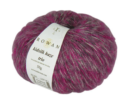 Rowan Kidsilk Haze Trio (50g). Luxurious Aran knitting yarn