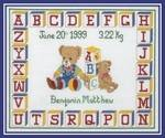 Teddy ABC. Cross-Stitch kit (Anchor)