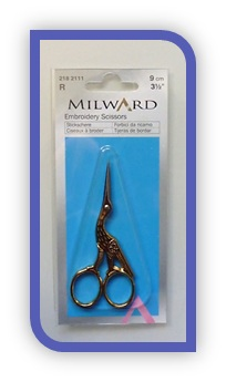 Embroidery Scissors. Gold Stork (Milward)