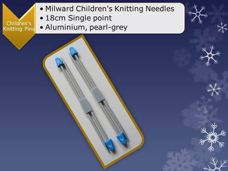 Milward_children_single_point_knitting_needles_page