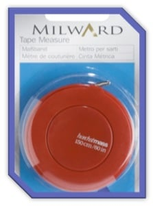 Tape Measure 1.5 x 150cm / 60in (Milward)