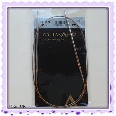 Circular Knitting Needles - Milward Premium -  Brass (80cm)