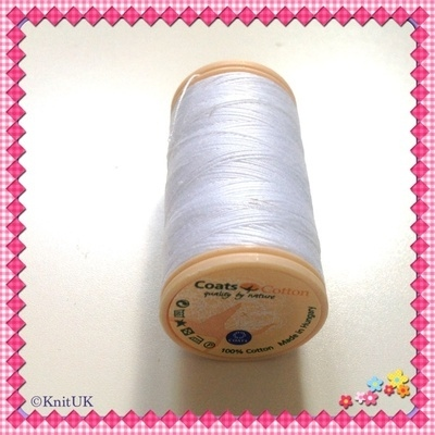 Coats Sewing Thread Cotton 50 (100% cotton) 100m. Choose colour