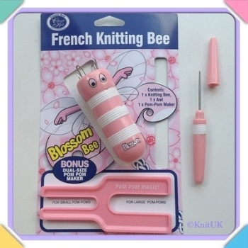 French Knitting Bee Set - Blossom Bee & Pompom Maker