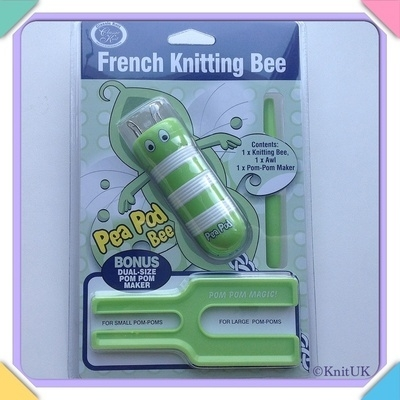 Classic Knit French Knitting Bee Set - Pea Pod Bee