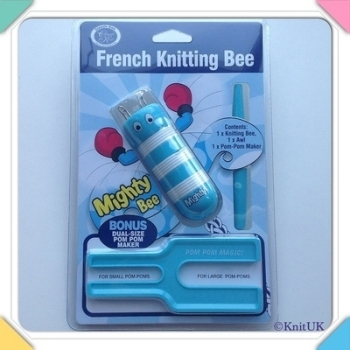 French Knitting Bee Set - Mighty Bee spool loom & Pompom Maker