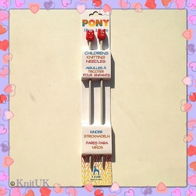 Pony Children's Aluminium Knitting Pins - 3.75 mm (18cm)