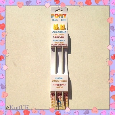 Pony Children's Aluminium Knitting Pins - 4.0 mm (18cm)
