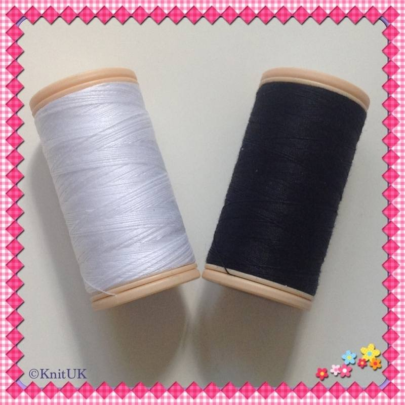 coats cotton black and white threads