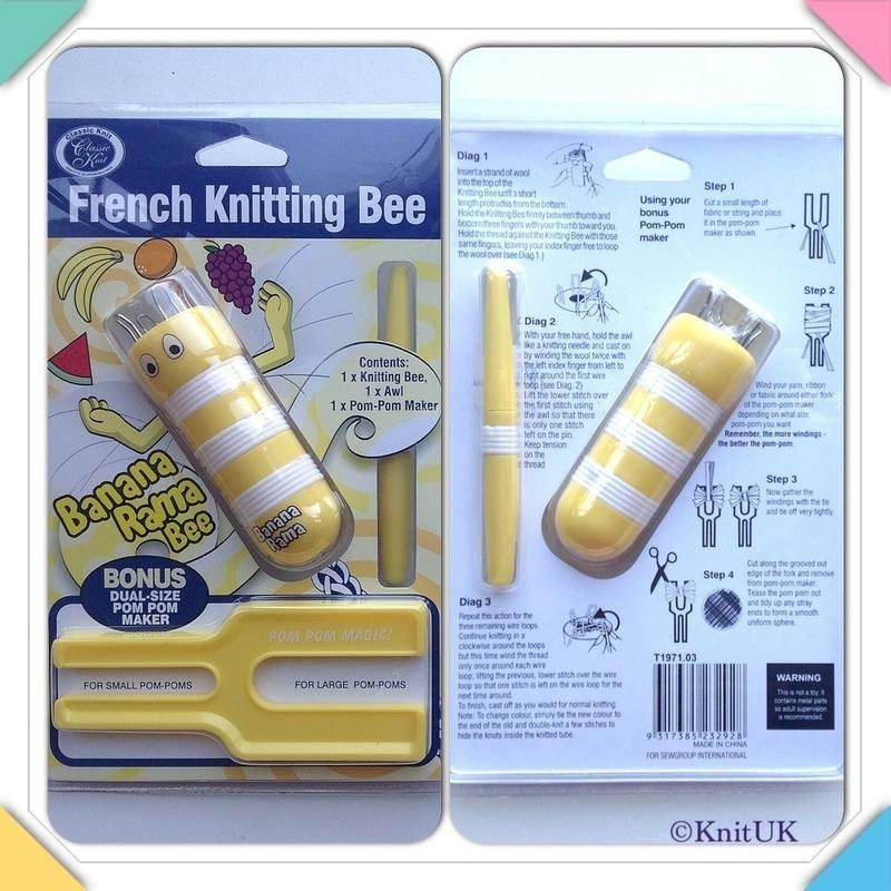 knitting bee banana front and back