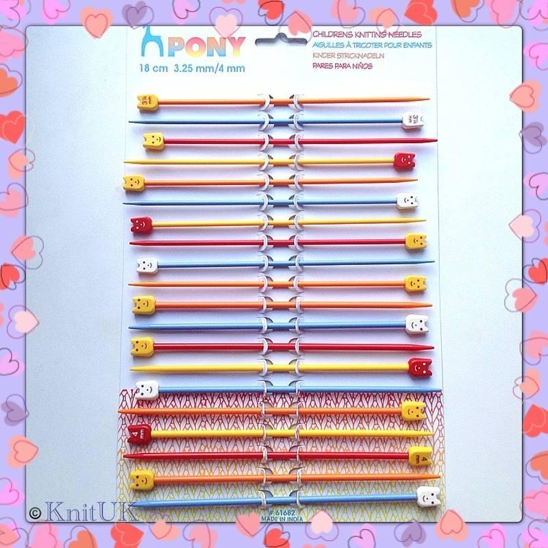 pony children needles assortment card