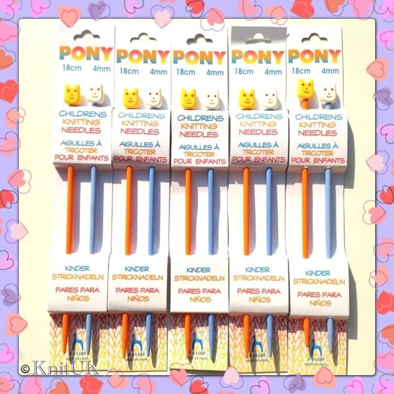 pony children plastic knitting needles
