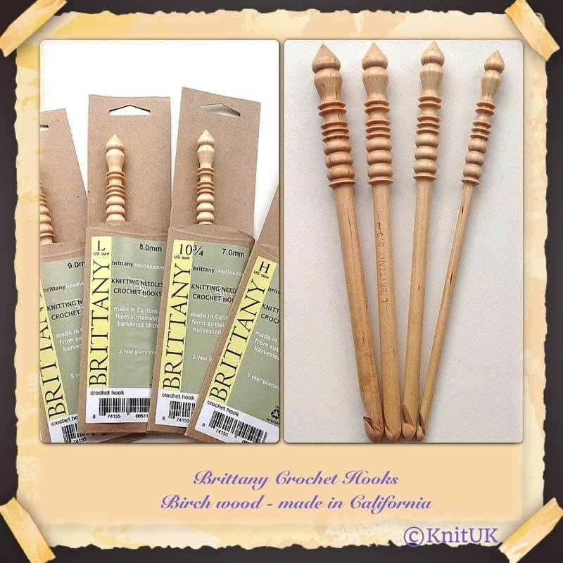 Brittany Birch Wood Crochet Hook Size M or 9.00 mm Made in the USA