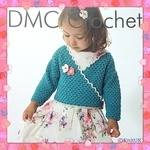 DMC Girl's Wrap-Over- Cardigan - Crochet Pattern Leaflet (by Tash Bentley)