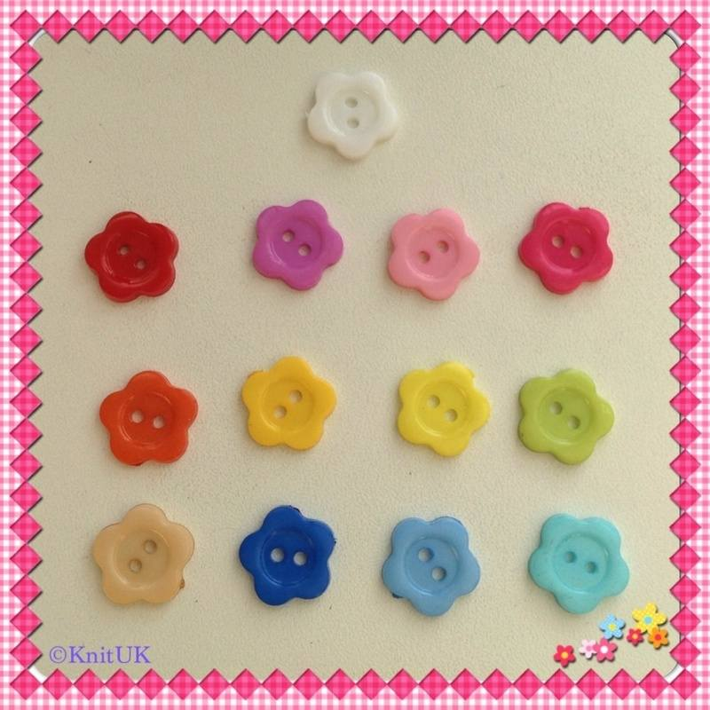 flower buttons 13 colours