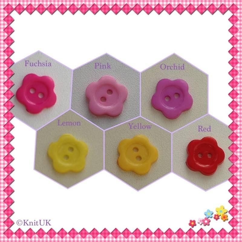 flower buttons 6colours