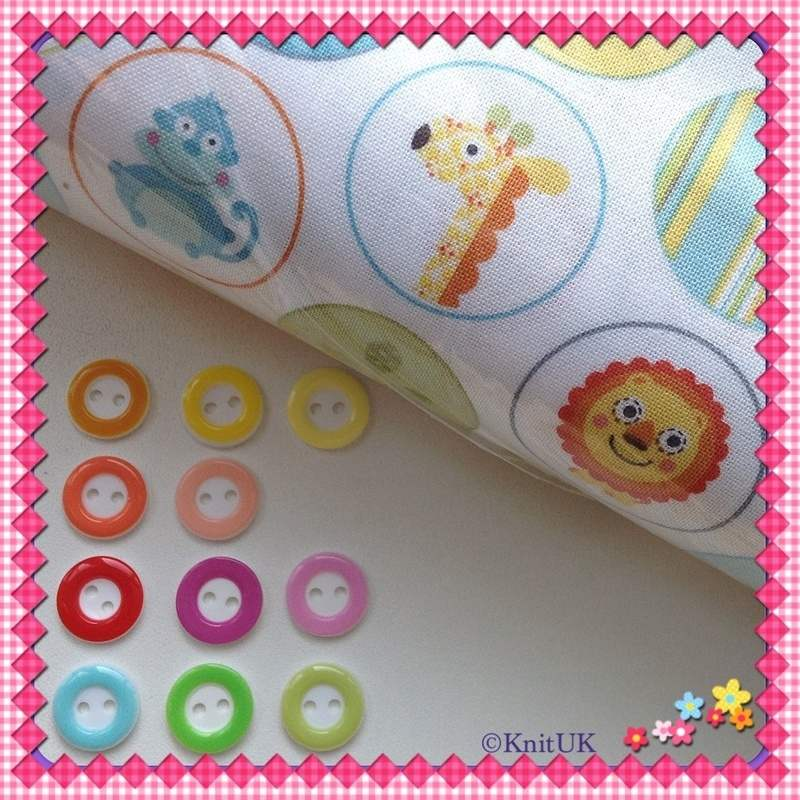 circle buttons and circle fabric
