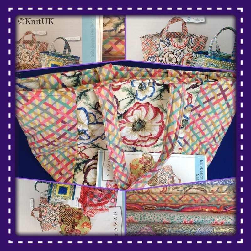 rowan nature bag and fabrics