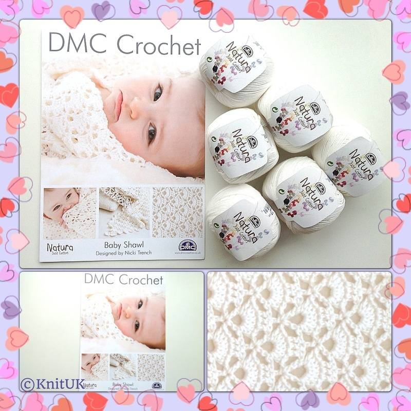 DMC Baby Shawl - Crochet Pattern Leaflet, design by Nicky Trench ...