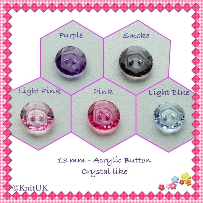 buttons acrylic 5 colours