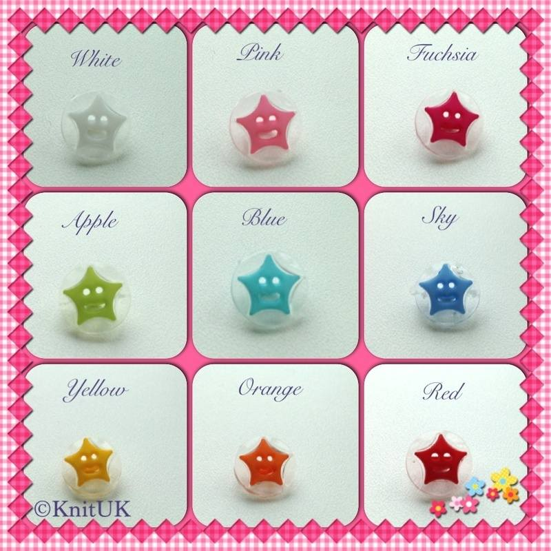 buttons star colours