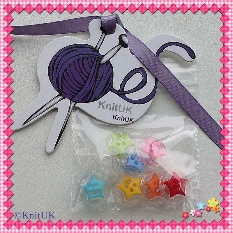buttons star multicolour bag