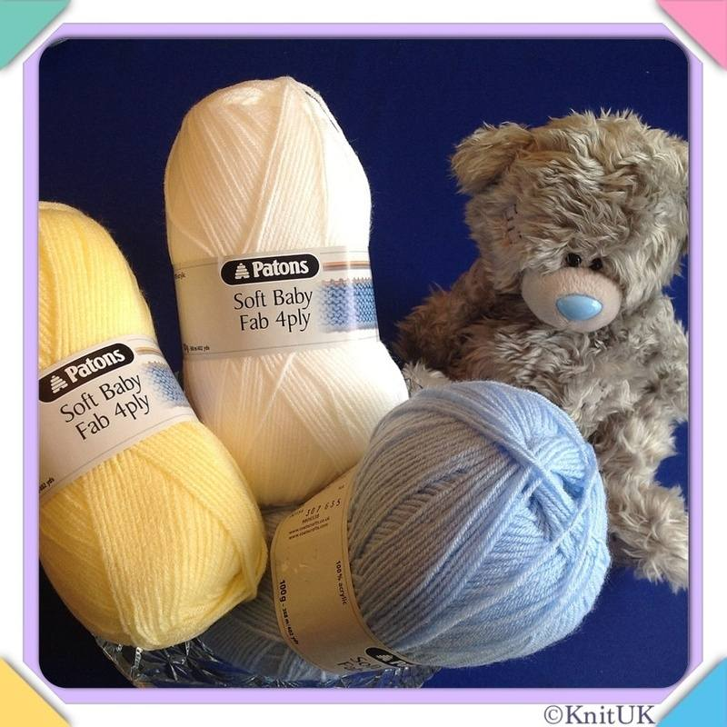 Patons 3 baby fab 4ply bear