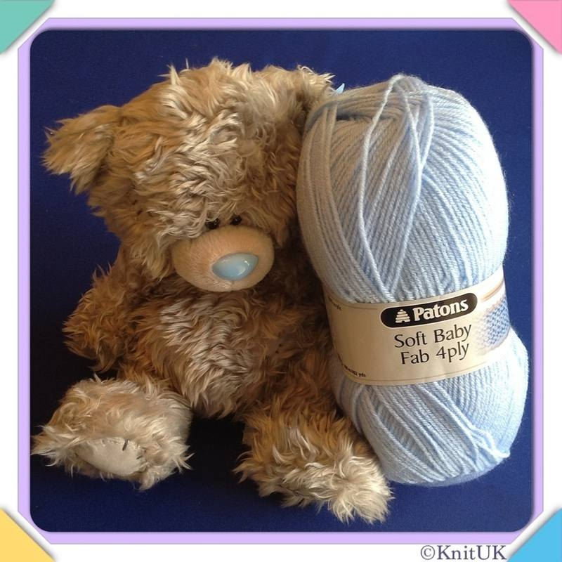 Patons soft fab baby4ply bear