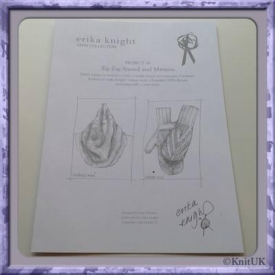 erika knight Loose Leaf Patterns - knitting leaflet: 2 designs using Vintag