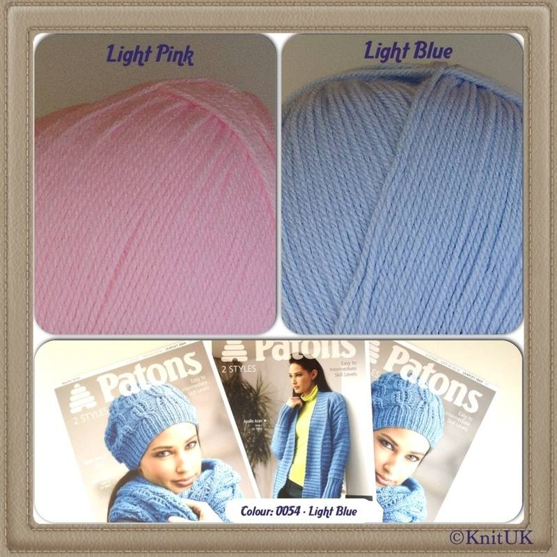 patons apollo pink n blue