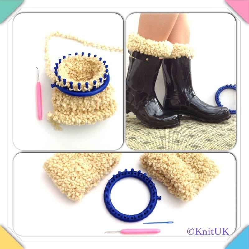 new loom round yarn and boot