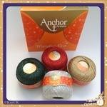 Anchor Artiste Metallic Fine ( 25g): 65% Viscose - 35 % metallised polyester