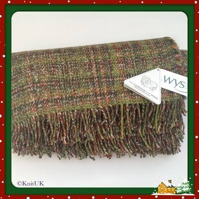 WYS Blanket/Throw - Autumn Print: British Wool (163 x 155cm) - Free UK Deli