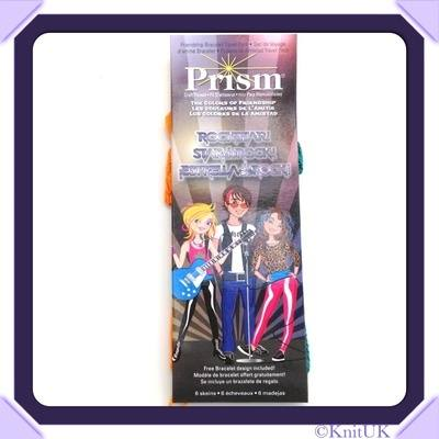 Prism Friendship Bracelet. Prism Mini Pack 6 skeins (8m) plus free design