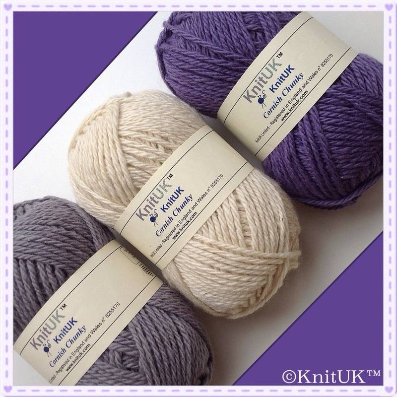 KnitUK cornish yarns diagonal