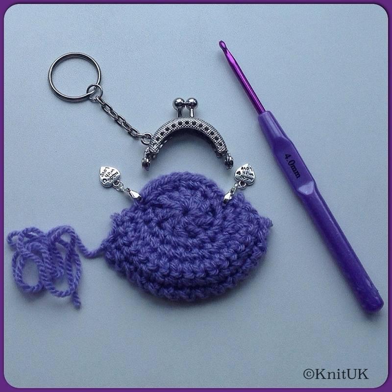 Knituk Coin Purse Kit Crochet Kit Knituk