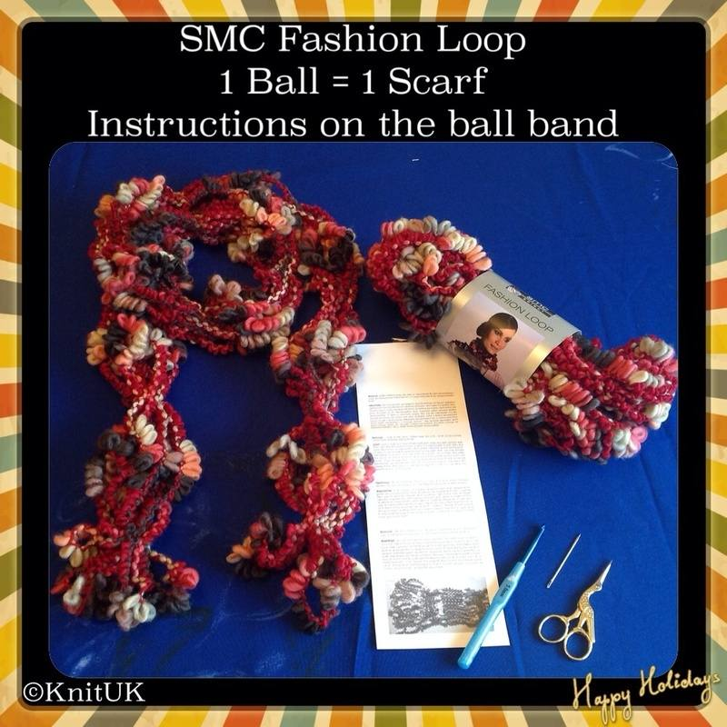 smc fashion loop scarf and text