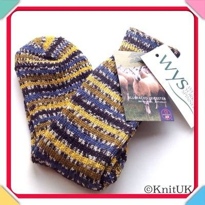WYS Socks - Bluefaced Leicester Birds Socks Collection - size 3-5  (100% Br