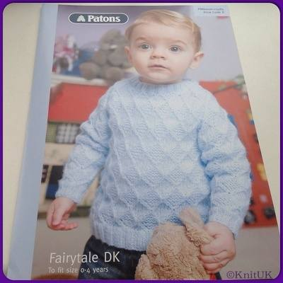 Patons Fairytale DK (Leaflet): Textured Sweater