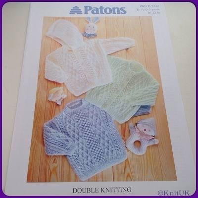 Patons Double Knitting (Leaflet): Sweater, Cardigan & Jacket