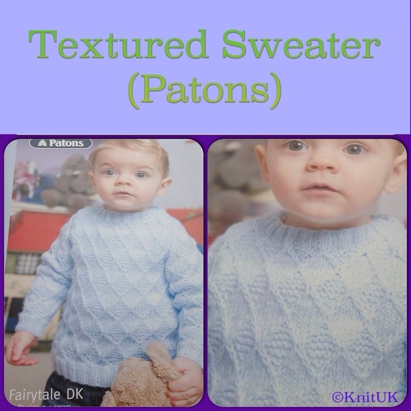 Patons Fairytale DK textured sweter