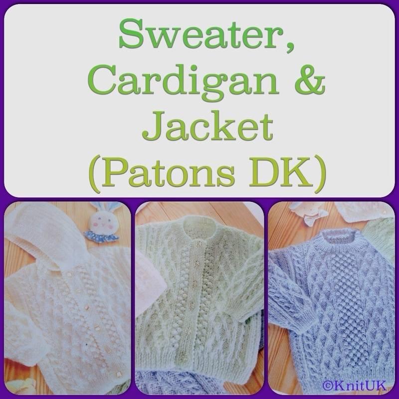 patons DK sweater cardigan jacket