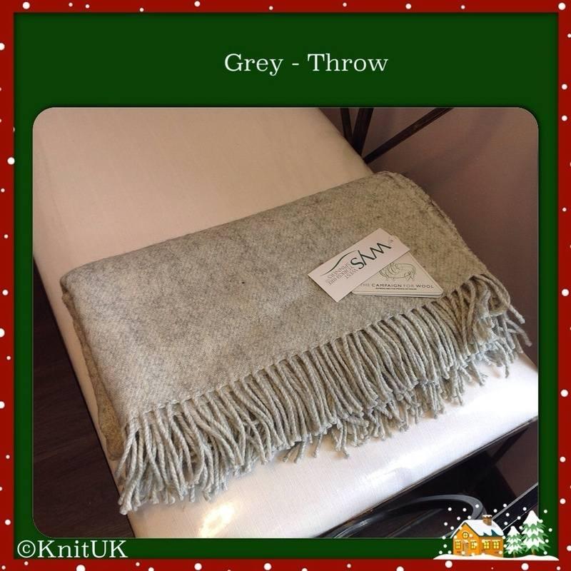 wys throw grey folded