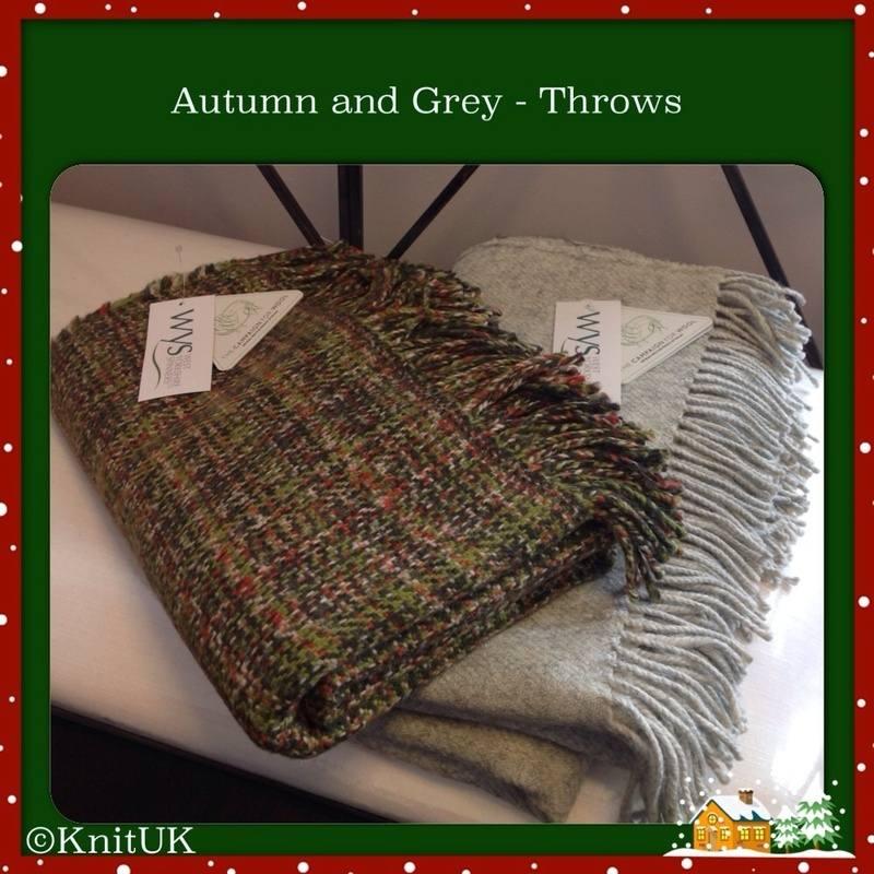 wys throw grey autumn folded