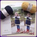 WYS BFL Fair Isle Pinafore, Mitts, Cowl & Leg Warmers. Leaflet Pattern. Knitting Designs for girls.