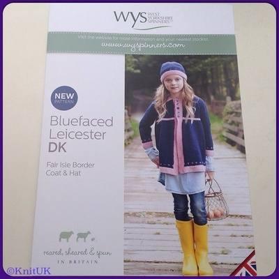 WYS BFL Fair Isle Coat & Hat  Leaflet Pattern  Knitting Designs for girls