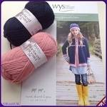 WYS BFL Fair Isle Coat & Hat. Leaflet Pattern. Knitting Designs for girls.