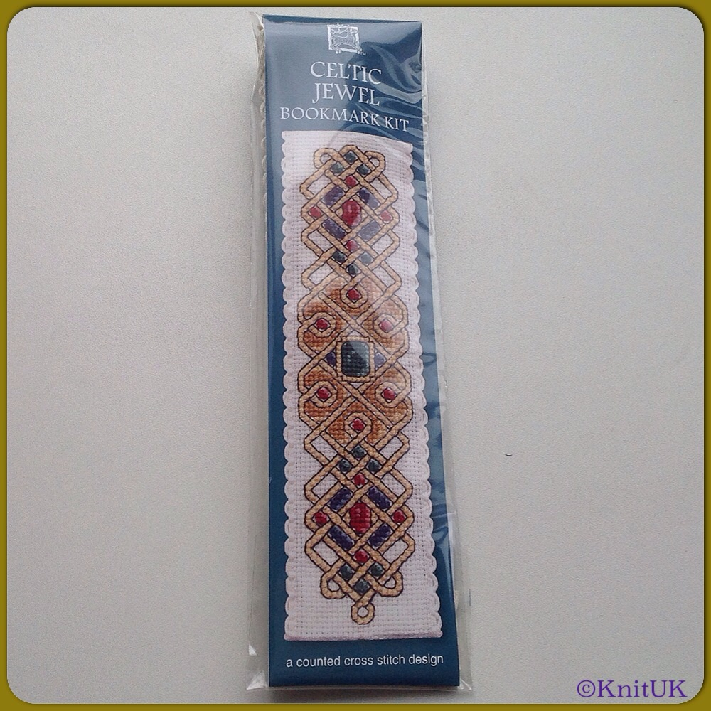 BOOKMARK Celtic Jewel / Cross Stitch Kit - by Textile Heritage™