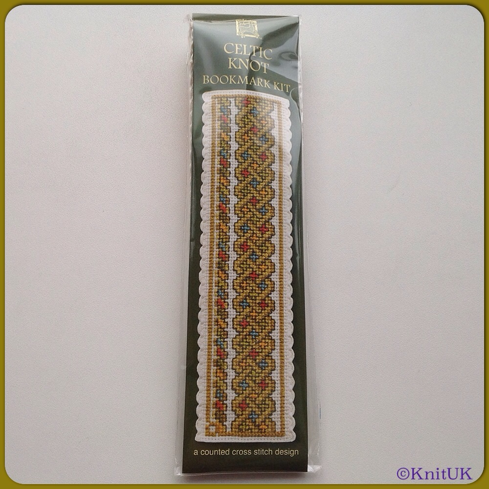 BOOKMARK Celtic Knot / Cross Stitch Kit - by Textile Heritage™