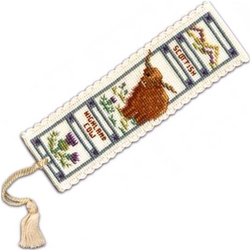 TH bookmark tassel highl cow
